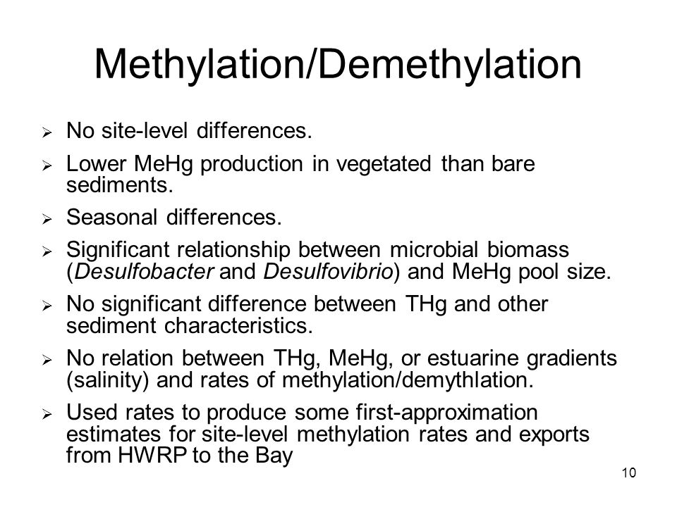 10 Methylation/Demethylation No site-level differences.