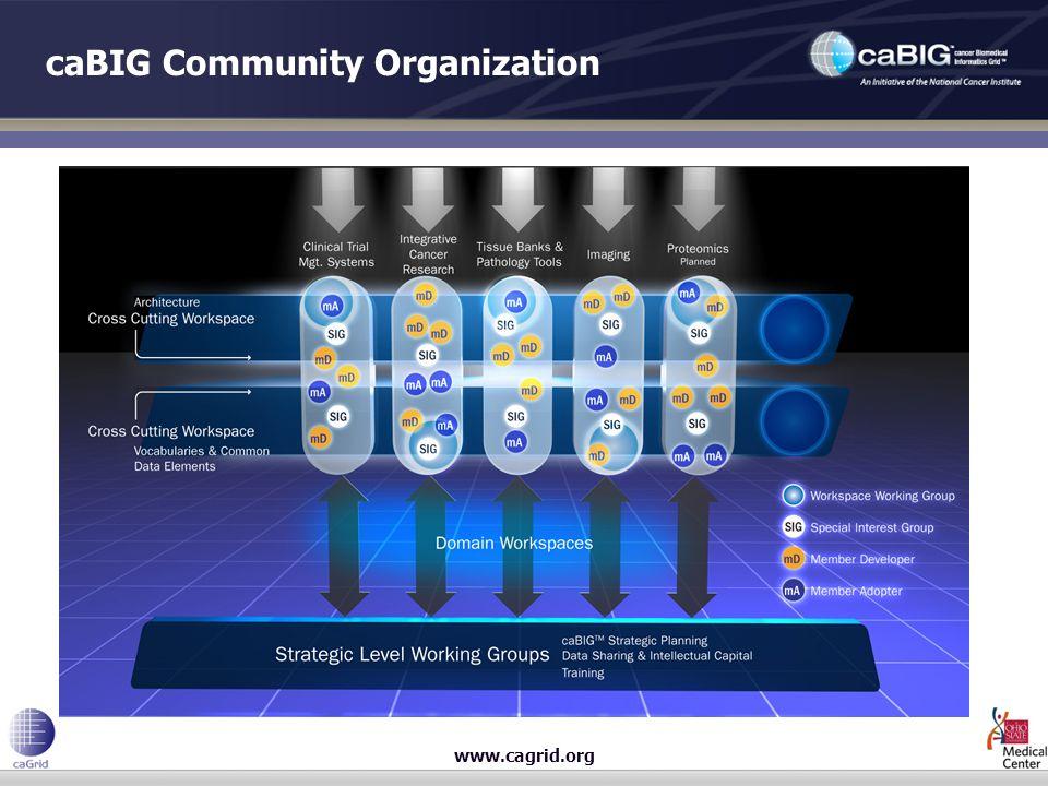 www.cagrid.org caBIG Community Organization