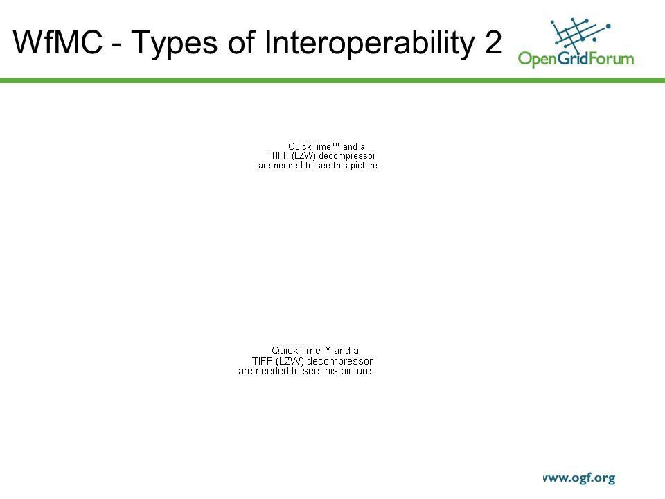 © 2006 Open Grid Forum 16 WfMC - Types of Interoperability 2