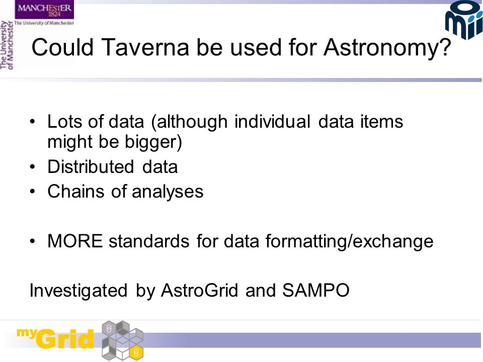 Could Taverna be used for Astronomy.