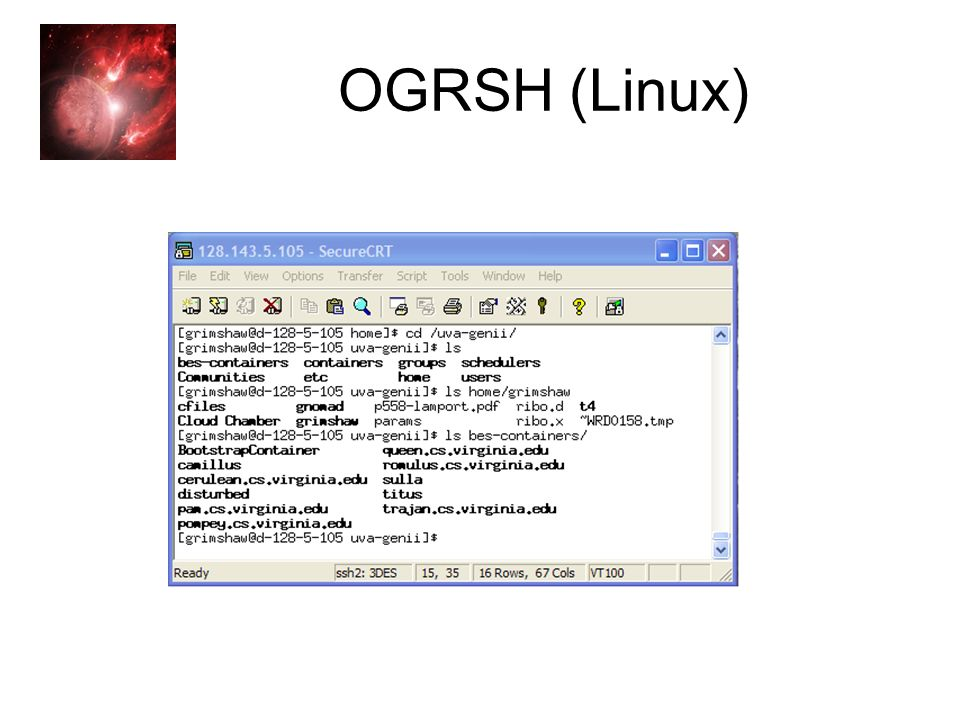 Genesis II Open Source, OGSA Implementation OGRSH (Linux)