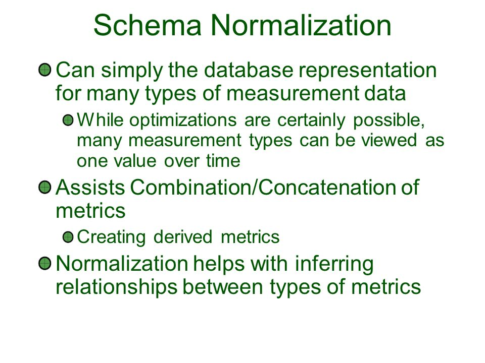 Schema Status Three schema components Base Defines Message, Store, Data, Metadata, Parameters Topology Defines Subjects that can appear in the Metadata and Version 3 represents their relationships as well EventTypes Each data type extends the Base and can define what Parameters are acceptable and what subjects are required