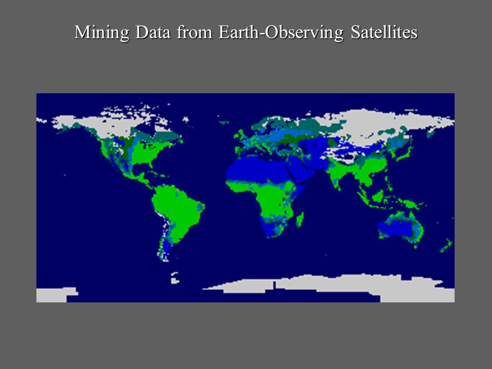 Mining Data from Earth-Observing Satellites