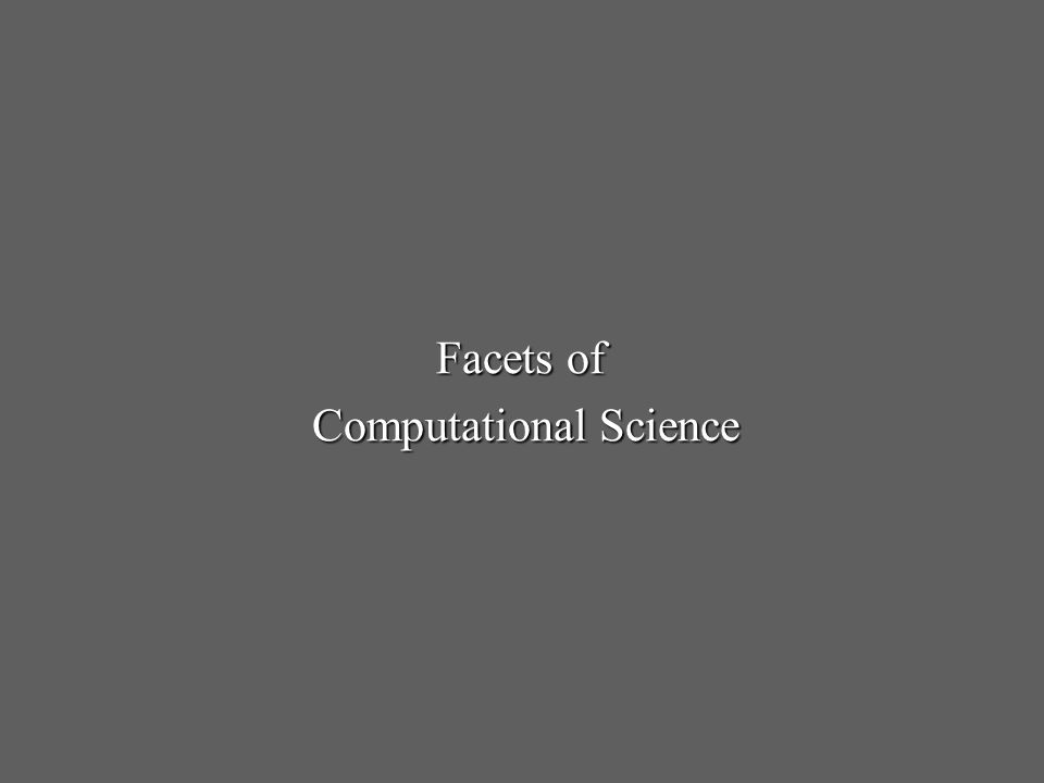 Facets of Computational Science
