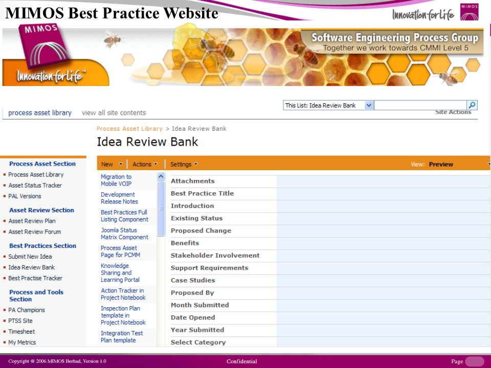 BEST PRACTICE WEBSITE MIMOS Best Practice Website