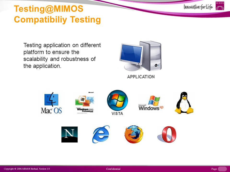 VISTA APPLICATION Testing application on different platform to ensure the scalability and robustness of the application.
