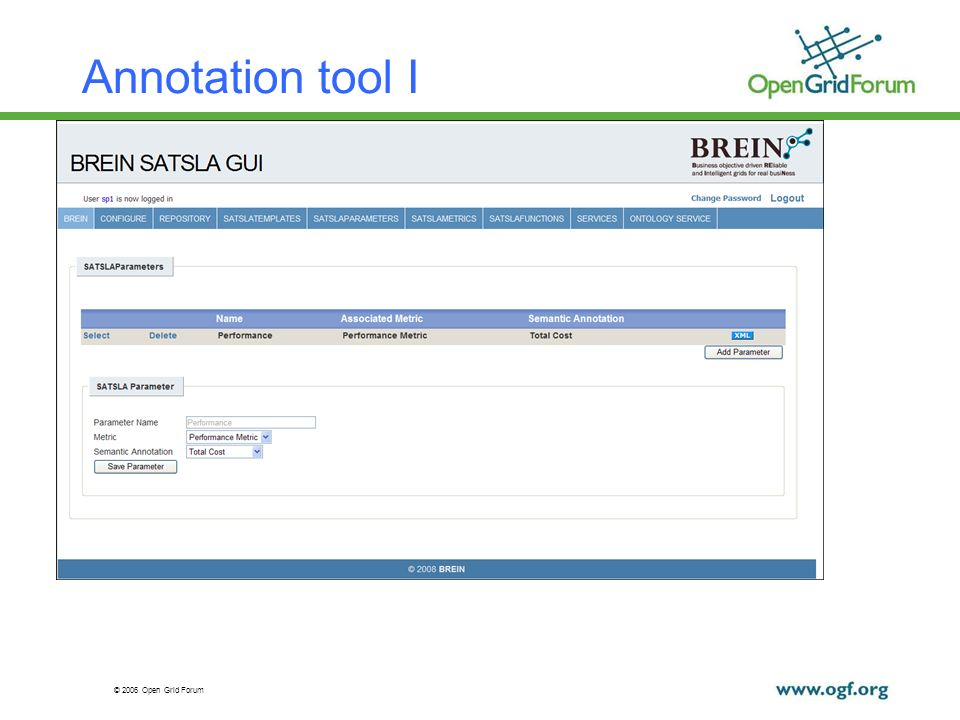 © 2006 Open Grid Forum Annotation tool I