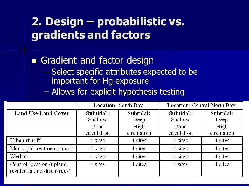 2. Design – probabilistic vs.