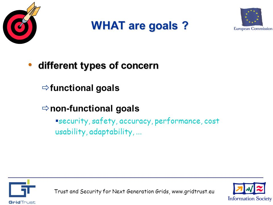 Trust and Security for Next Generation Grids, www.gridtrust.eu WHAT are goals .
