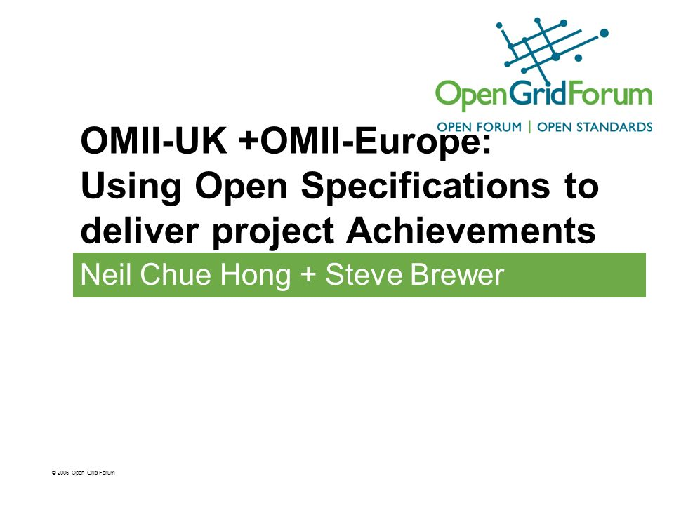 Impact of open specifications What are the benefits and disadvantages of using open specifications.