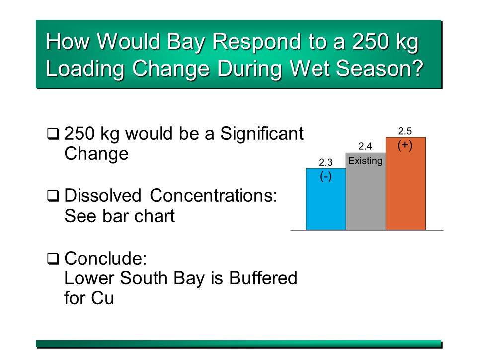 12 How Would Bay Respond to a 250 kg Loading Change During Wet Season.