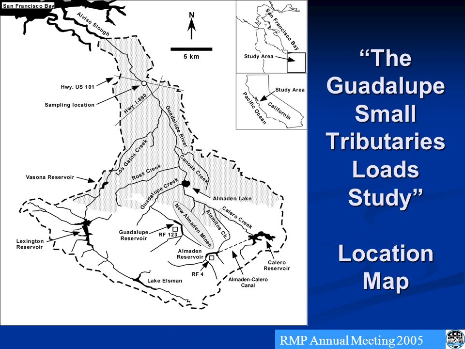 The Guadalupe Small Tributaries Loads Study Location Map RMP Annual Meeting 2005