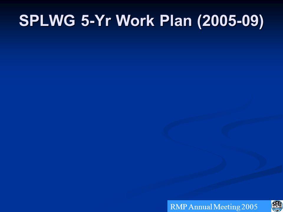 SPLWG 5-Yr Work Plan (2005-09) RMP Annual Meeting 2005