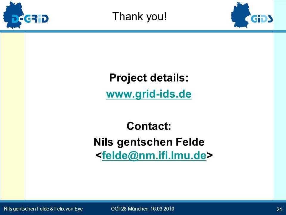 Nils gentschen Felde & Felix von EyeOGF28 München, 16.03.2010 Thank you.