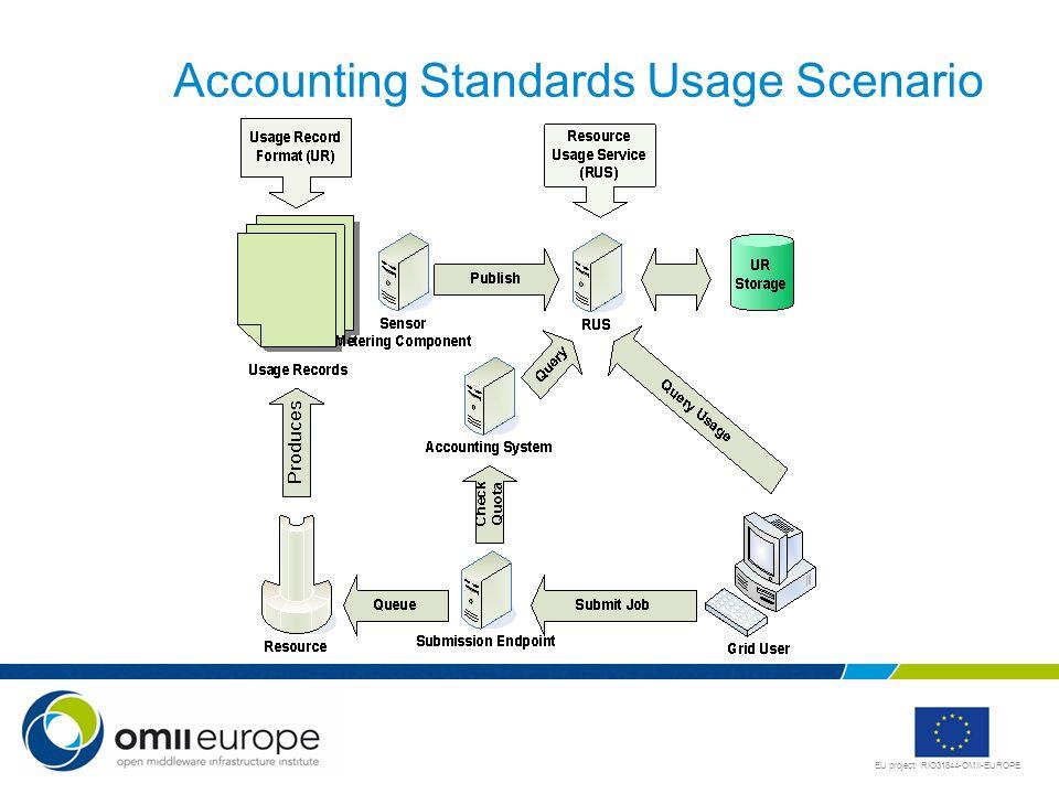 EU project: RIO31844-OMII-EUROPE Accounting Standards Usage Scenario