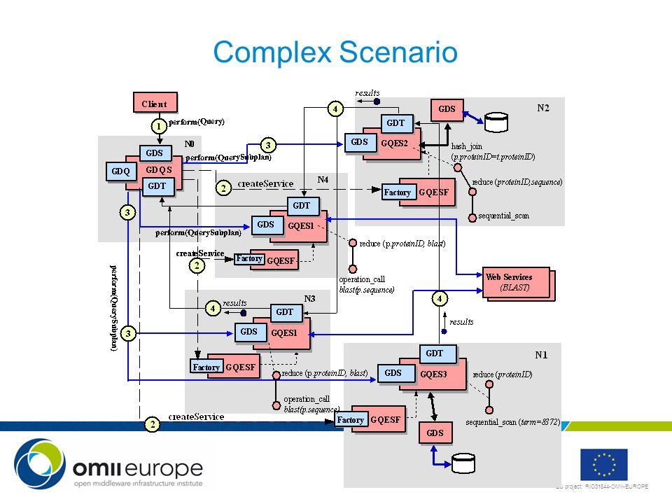 EU project: RIO31844-OMII-EUROPE Complex Scenario