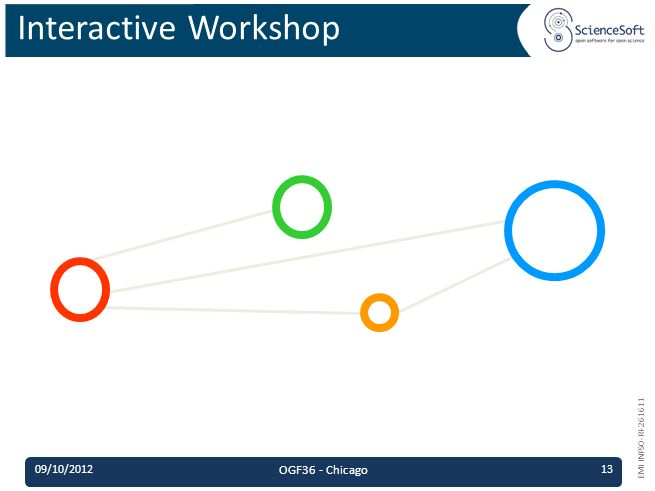 EMI INFSO-RI-261611 Interactive Workshop 09/10/2012 OGF36 - Chicago 13