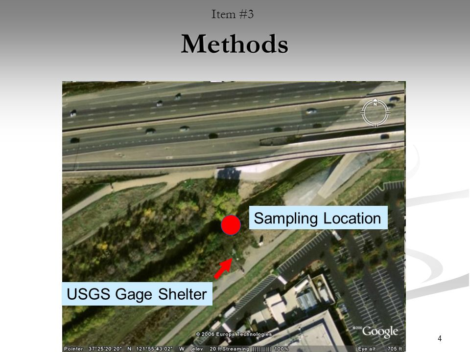 4 Methods Sampling Location USGS Gage Shelter Item #3