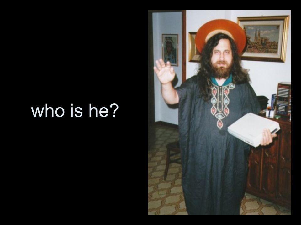 he is St.IGNUicus A humoristic creation of Richard M.