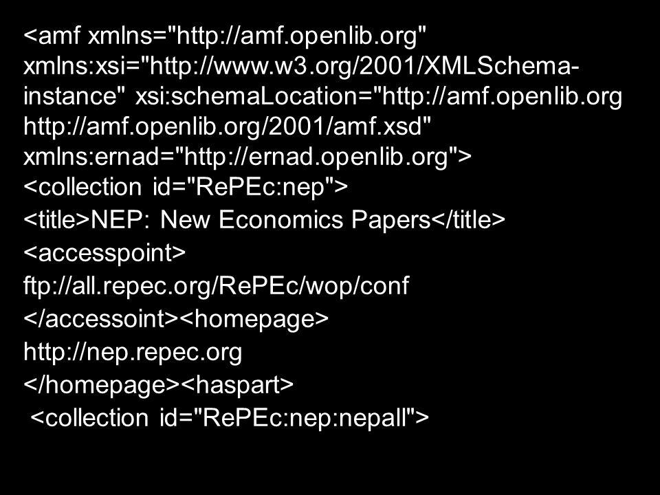 NEP: New Economics Papers ftp://all.repec.org/RePEc/wop/conf http://nep.repec.org