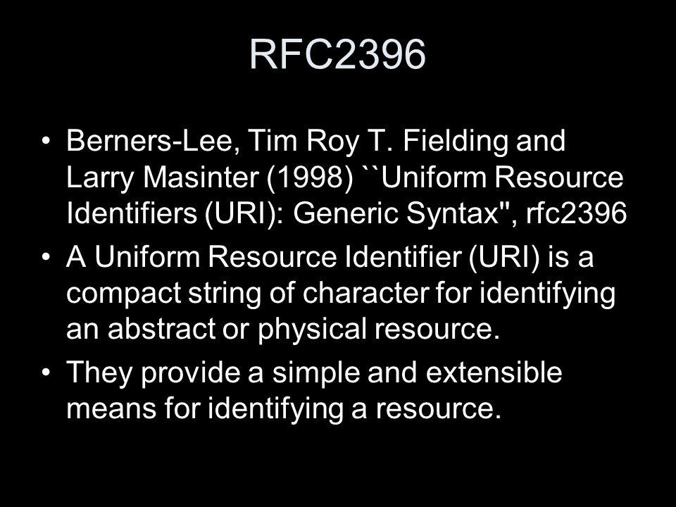 RFC2396 Berners-Lee, Tim Roy T.