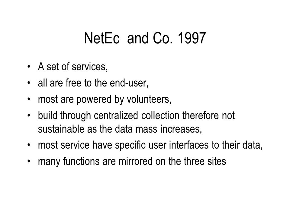 NetEc and Co.