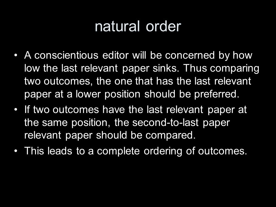 conjecture A rational editor faces two penalities when composing the report.