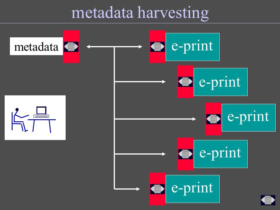 metadata harvesting metadata e-print