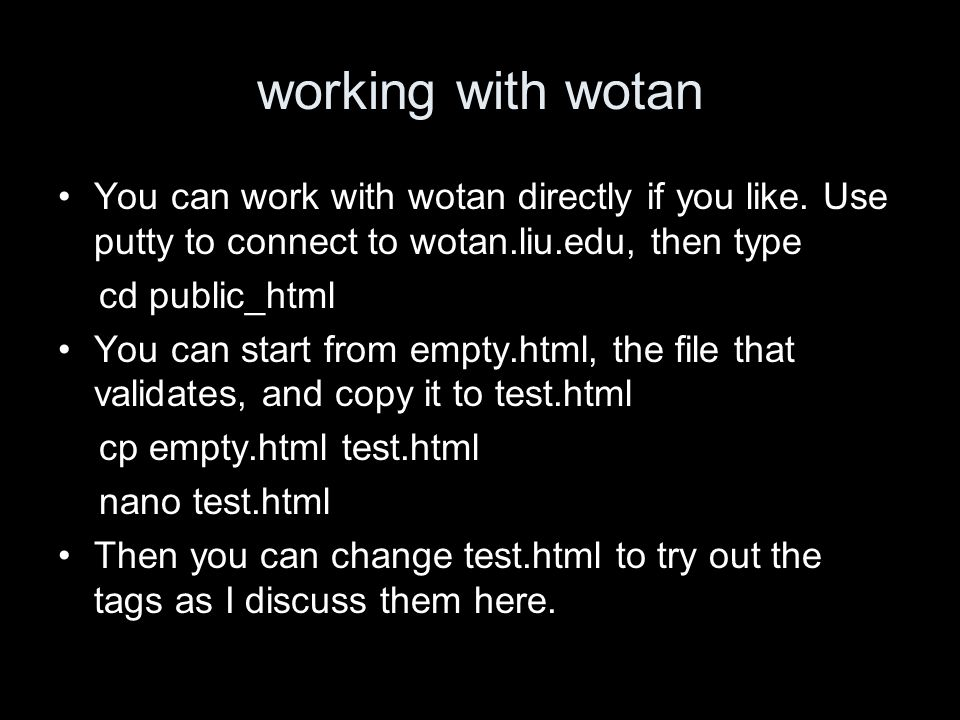 working with wotan You can work with wotan directly if you like.