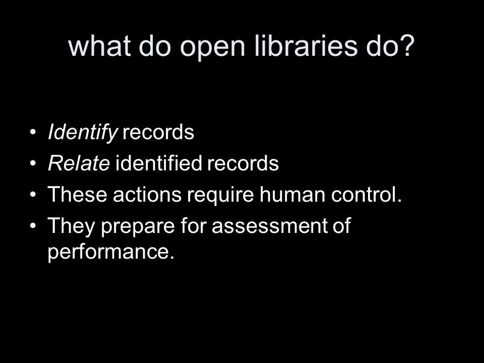 what do open libraries do.