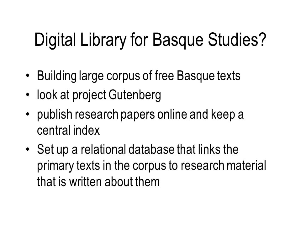 Digital Library for Basque Studies.