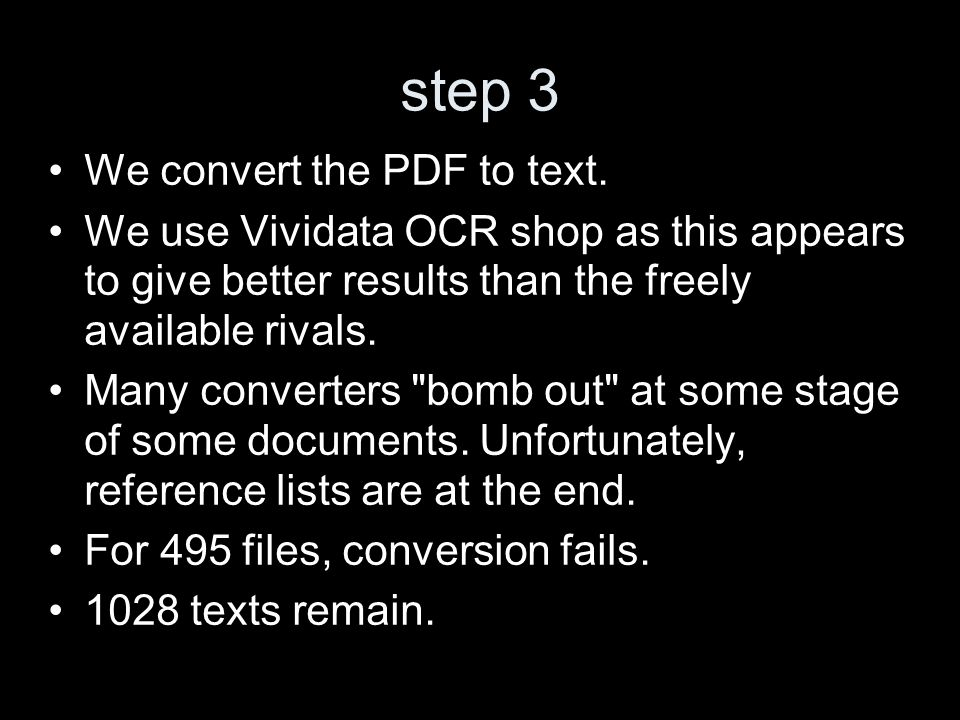 step 3 We convert the PDF to text.