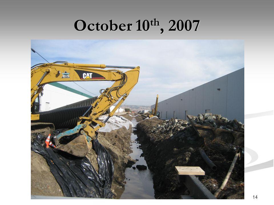 14 October 10 th, 2007