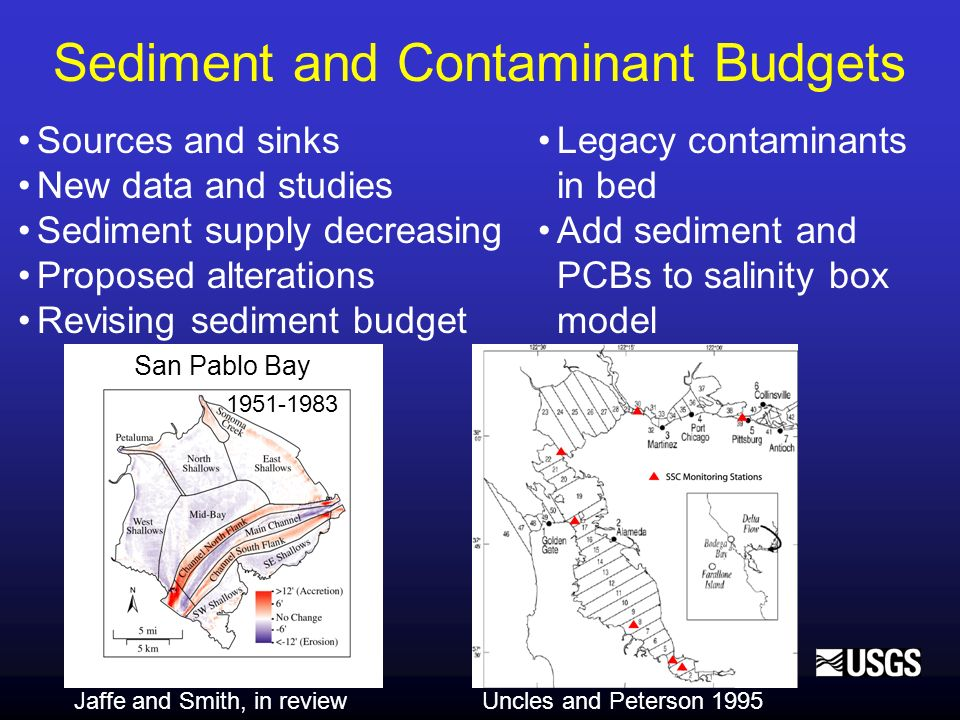 Sediment and Contaminant Budgets Sources and sinks New data and studies Sediment supply decreasing Proposed alterations Revising sediment budget Uncle