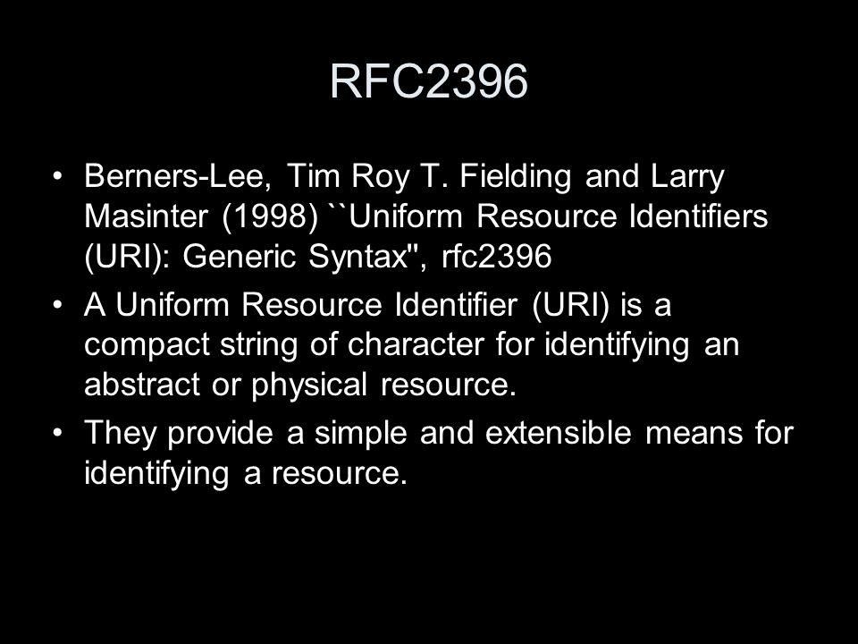 RFC2396 Berners-Lee, Tim Roy T.