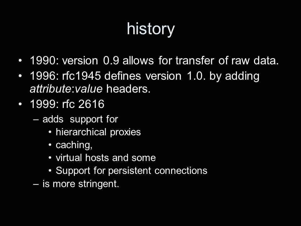 history 1990: version 0.9 allows for transfer of raw data.