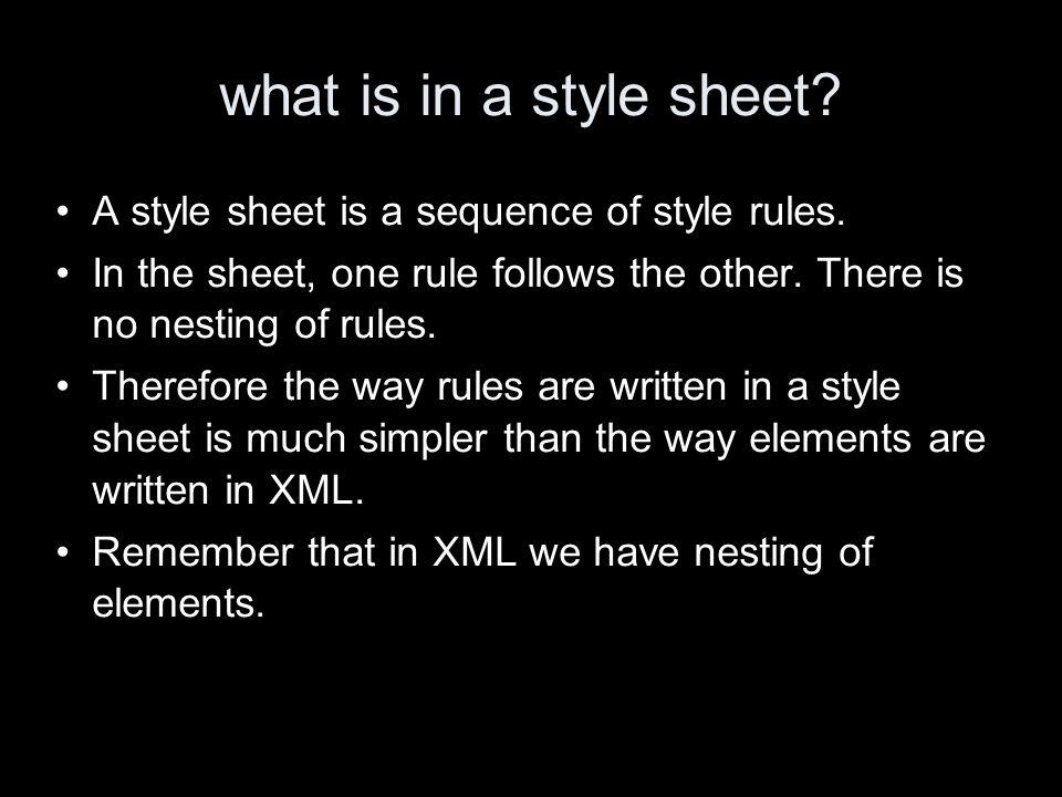 semantic markup The original HTML elements were all based on semantics.