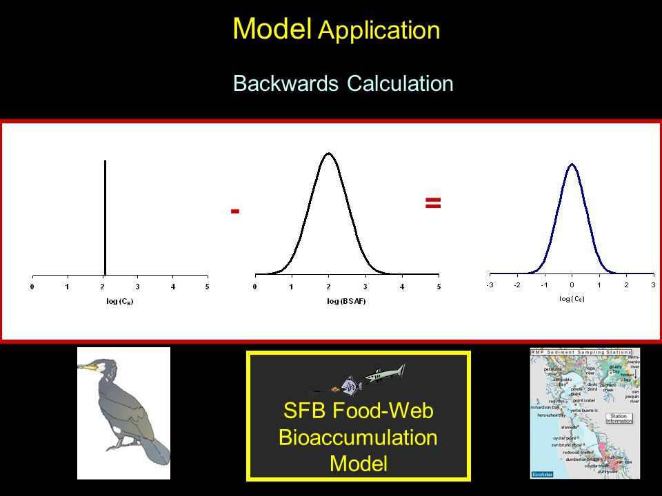 Model Application Backwards Calculation SFB Food-Web Bioaccumulation Model = -