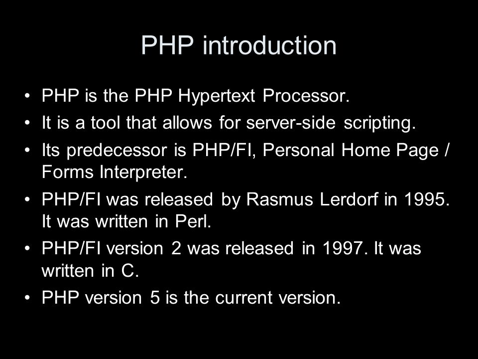 Apache and PHP When a file ends in.php, is not simply sent down the http connection like other files.