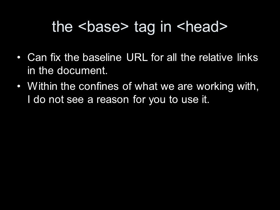 the tag in Can fix the baseline URL for all the relative links in the document.