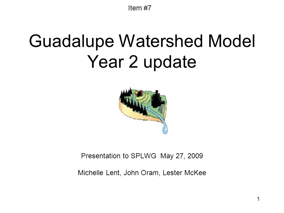 12 Compare model versions - Observed versus simulated daily flow for Guadalupe River Item #7 Old version (v1): WY 2003-2007 New version (v2): WY 1995-2007