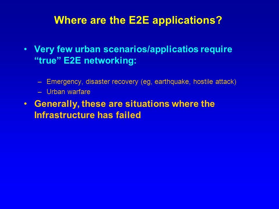 Where are the E2E applications.