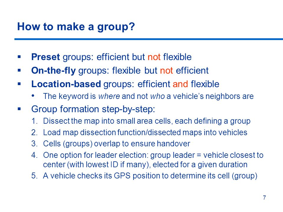 7 How to make a group.