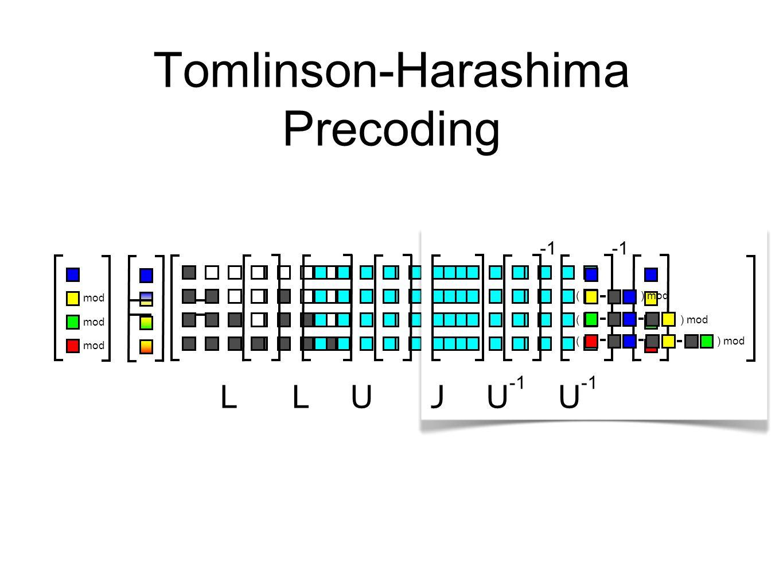 Tomlinson-Harashima Precoding LUU LUU ) mod ( ( ( mod