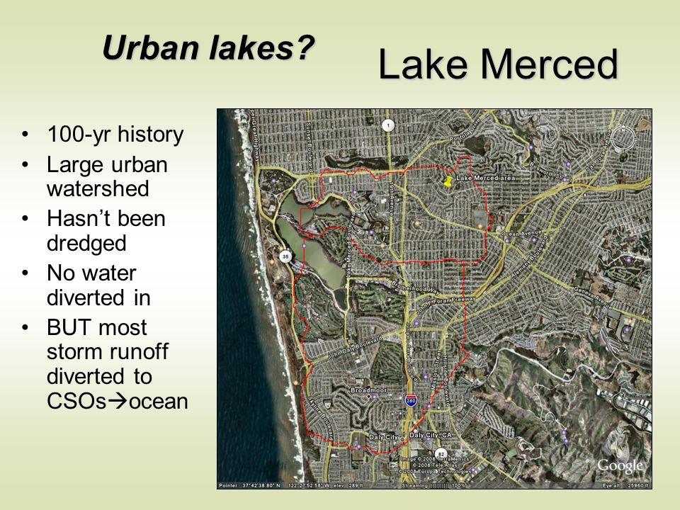Urban lakes.