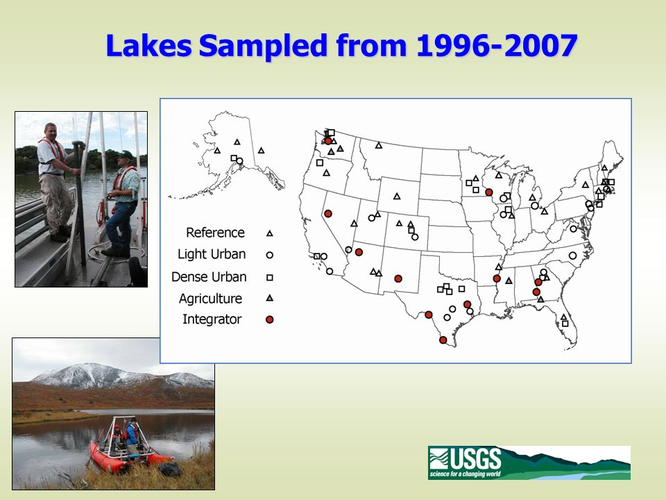 Lakes Sampled from 1996-2007