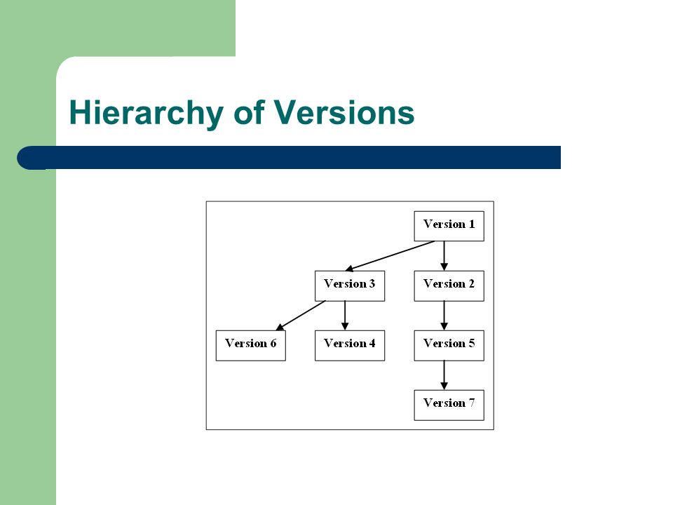 Hierarchy of Versions
