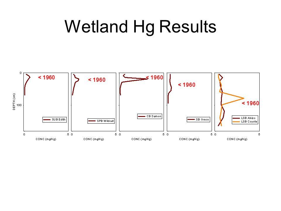 Wetland Hg Results < 1960
