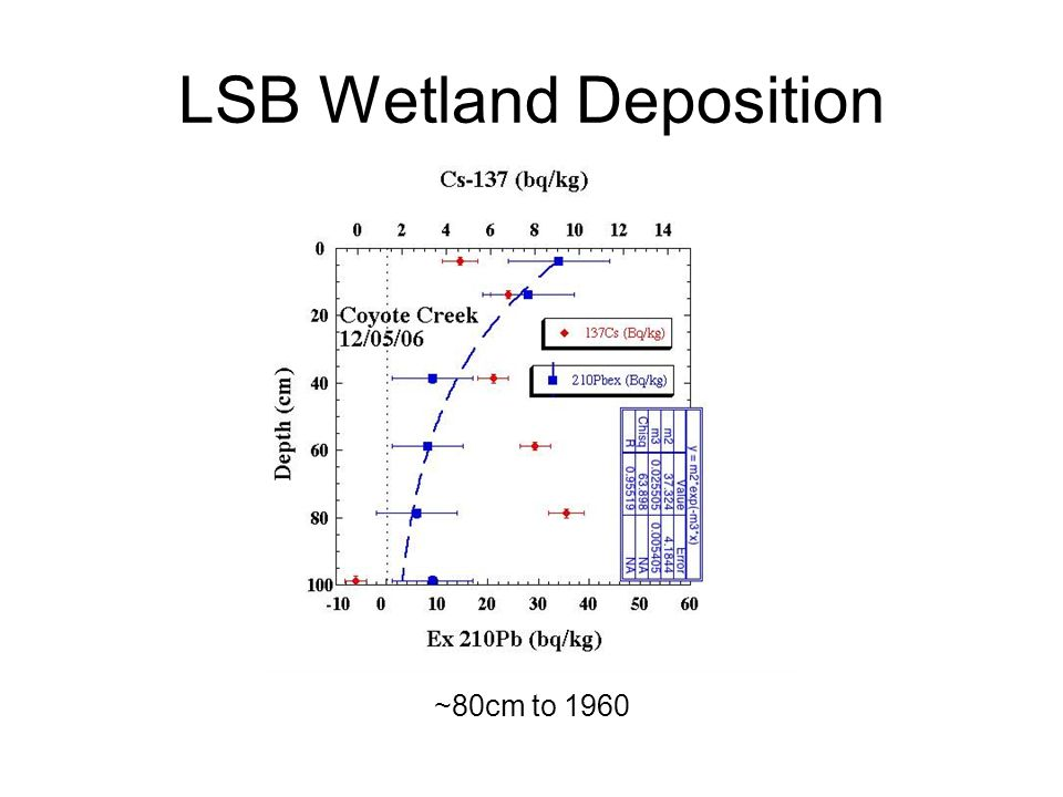 LSB Wetland Deposition ~80cm to 1960