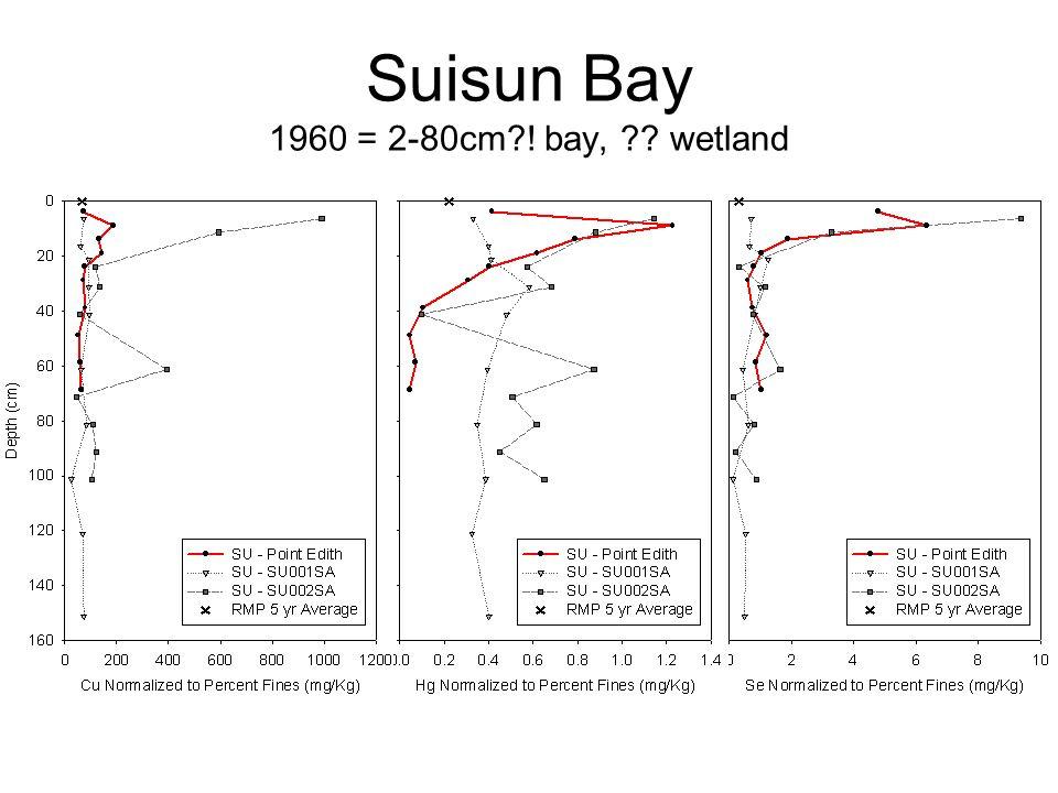 Suisun Bay 1960 = 2-80cm?! bay, ?? wetland
